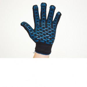 Перчатки х/б, черные, с ПВХ
