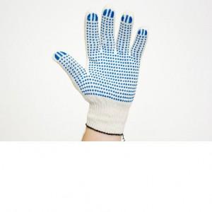 Перчатки х/б, белые, с ПВХ