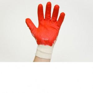 Перчатки х/б, красные,