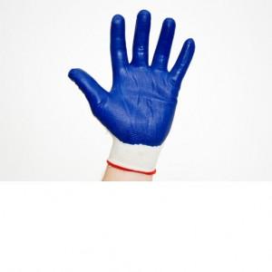Перчатки нейлоновые, синие,