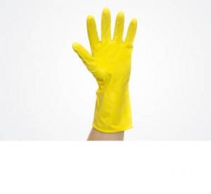 Перчатки резиновые с ворсовой подложкой