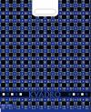 Квадро сине-чёрный